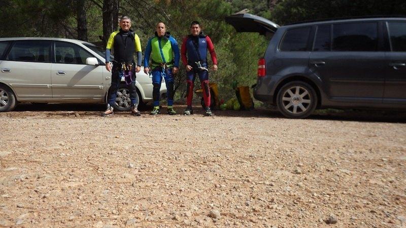 Miguel, Mario y Santi